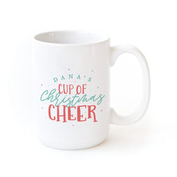 Personalized Name Cup of Christmas Cheer Coffee Mug - The Cotton and Canvas Co.