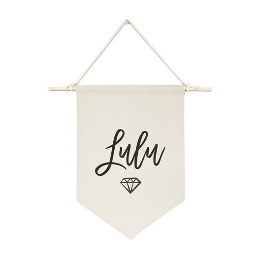 Personalized Name with Diamond Hanging Wall Banner