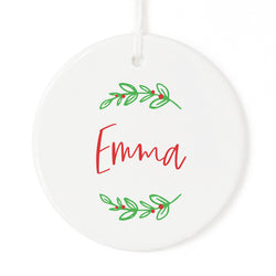 Classic Personalized Name Christmas Ornament - The Cotton and Canvas Co.