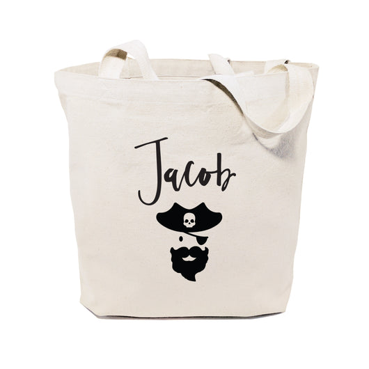 Personalized Name Pirate Cotton Canvas Tote Bag - The Cotton and Canvas Co.
