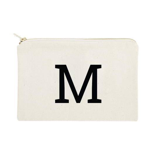 Personalized Single Modern Monogram Cosmetic Bag and Travel Make Up Pouch - The Cotton and Canvas Co.
