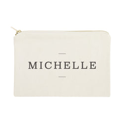 Personalized Modern Name Cosmetic Bag and Travel Make Up Pouch - The Cotton and Canvas Co.