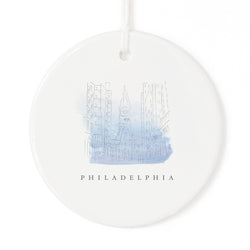 Philadelphia Christmas Ornament - The Cotton and Canvas Co.
