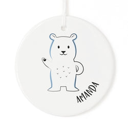 Pesonalized Name Polar Bear Christmas Ornament - The Cotton and Canvas Co.