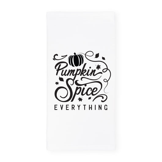 Pumpkin Spice Everything Kitchen Tea Towel and Dish Cloth - The Cotton and Canvas Co.