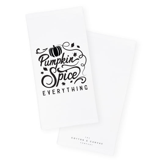 Pumpkin Spice Everything Kitchen Tea Towel and Dish Cloth – The ...