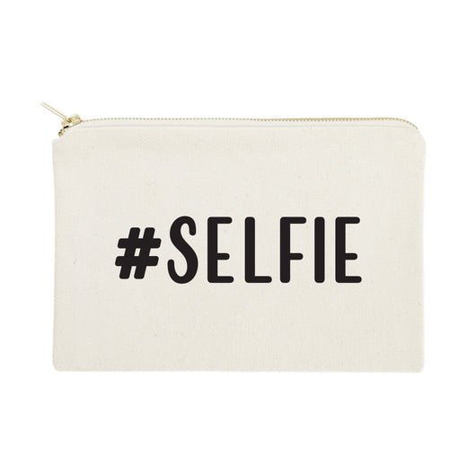 #SELFIE Cotton Canvas Cosmetic Bag - The Cotton and Canvas Co.