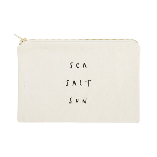 Sea Salt Sun Cotton Canvas Cosmetic Bag - The Cotton and Canvas Co.