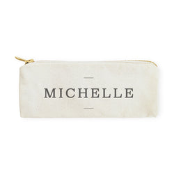 Personalized Modern Name Pencil Case and Travel Pouch - The Cotton and Canvas Co.