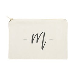 Personalized Handwritten Monogram Cosmetic Bag and Travel Make Up Pouch - The Cotton and Canvas Co.
