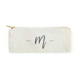 Personalized Handwritten Monogram Pencil Case and Travel Pouch - The Cotton and Canvas Co.