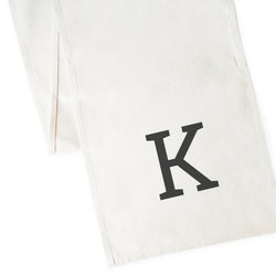 Personalized Monogram Canvas Table Runner - The Cotton and Canvas Co.