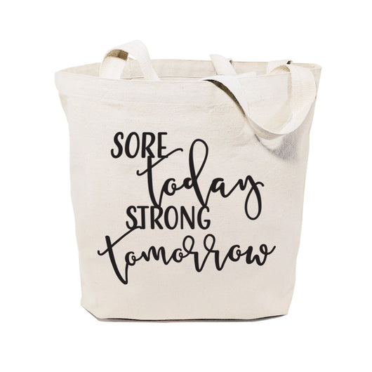 Sore Today, Strong Tomorrow Cotton Canvas Tote Bag - The Cotton and Canvas Co.