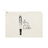 Stay Golden Cotton Canvas Cosmetic Bag - The Cotton and Canvas Co.