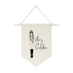 Stay Golden Hanging Wall Banner