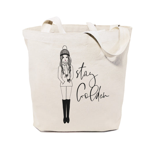 Stay Golden Cotton Canvas Tote Bag