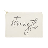 Strength Cotton Canvas Cosmetic Bag - The Cotton and Canvas Co.