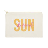 Sunkissed Cotton Canvas Cosmetic Bag - The Cotton and Canvas Co.