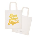 Sun Shine on My Mind Cotton Canvas Tote Bag - The Cotton and Canvas Co.