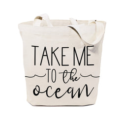 Take Me to the Ocean Cotton Canvas Tote Bag - The Cotton and Canvas Co.