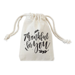 Thankful for You Thanksgiving Favor Bags, 6-Pack - The Cotton and Canvas Co.
