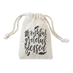 Thankful, Grateful, Blessed Thanksgiving Favor Bags, 6-Pack - The Cotton and Canvas Co.