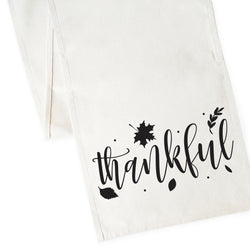 Thankful Cotton Canvas Table Runner - The Cotton and Canvas Co.