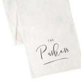 Personalized Last Name Cotton Canvas Table Runner - The Cotton and Canvas Co.