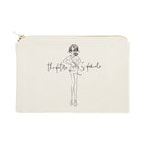 The Future is Female Cotton Canvas Cosmetic Bag