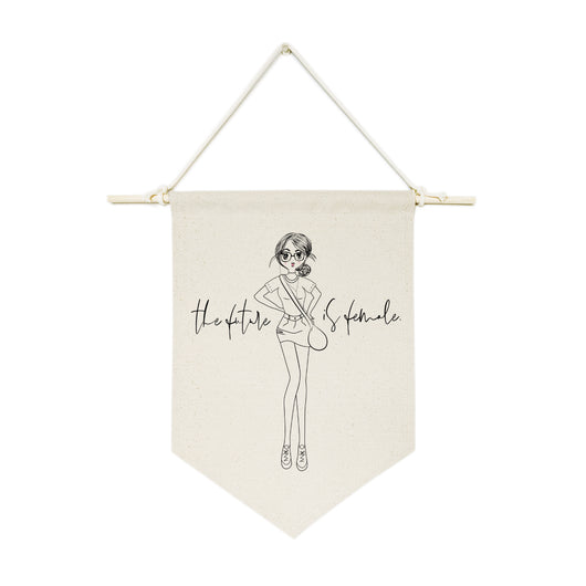 The Future is Female Hanging Wall Banner - The Cotton and Canvas Co.