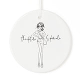 The Future is Female Christmas Ornament - The Cotton and Canvas Co.