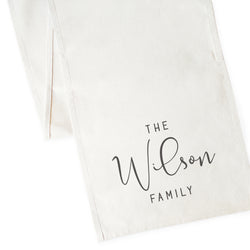 Personalized Family Last Name Canvas Table Runner - The Cotton and Canvas Co.