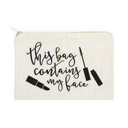 This Bag Contains My Face Cotton Canvas Cosmetic Bag - The Cotton and Canvas Co.