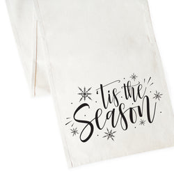 Tis the Season Cotton Canvas Table Runner - The Cotton and Canvas Co.