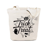Trick or Treat Halloween Cotton Canvas Tote Bag - The Cotton and Canvas Co.