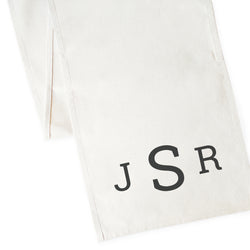 Personalized Triple Monogram Canvas Table Runner - The Cotton and Canvas Co.