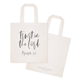 Trust in the Lord, Proverbs 3:5 Cotton Canvas Tote Bag - The Cotton and Canvas Co.