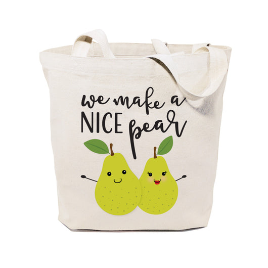 We Make A Nice Pear Cotton Canvas Tote Bag - The Cotton and Canvas Co.
