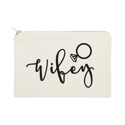 Wifey Cotton Canvas Cosmetic Bag - The Cotton and Canvas Co.