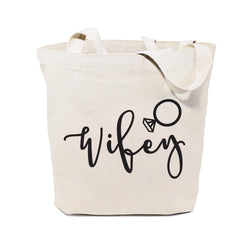 Cotton Canvas Wifey Wedding Tote Bag - The Cotton and Canvas Co.