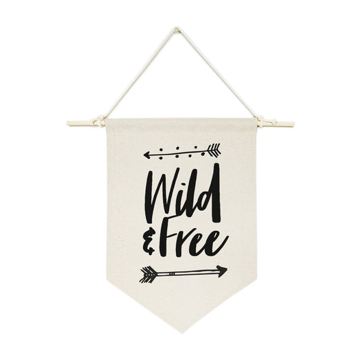 Wild & Free Hanging Wall Banner - The Cotton and Canvas Co.