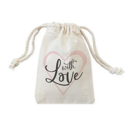 With Love Wedding Favor Bags, 6-Pack - The Cotton and Canvas Co.