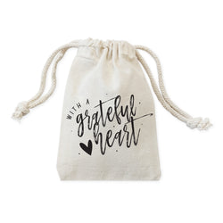 With a Grateful Heart Thanksgiving Favor Bags, 6-Pack - The Cotton and Canvas Co.