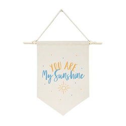 412543 615264125439 You Are My Shine, Blue and Yellow Hanging Wall Banner - The Cotton and Canvas Co.