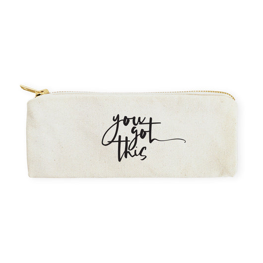 You Got This Cotton Canvas Pencil Case and Travel Pouch - The Cotton and Canvas Co.