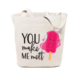 You Make Me Melt Cotton Canvas Tote Bag - The Cotton and Canvas Co.