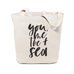 You, Me and the Sea Cotton Canvas Tote Bag - The Cotton and Canvas Co.