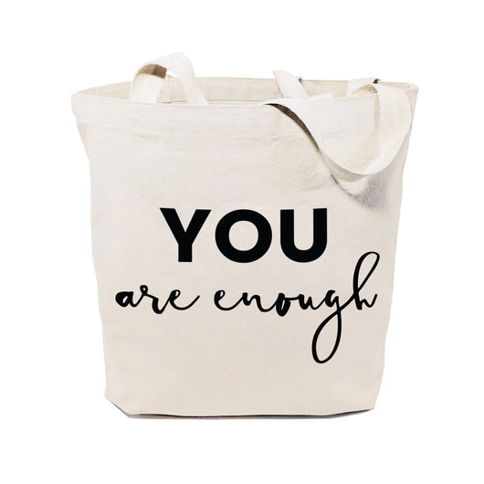 You Are Enough Cotton Canvas Tote Bag - The Cotton and Canvas Co.