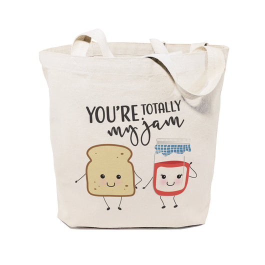 You're Totally My Jam Cotton Canvas Tote Bag - The Cotton and Canvas Co.