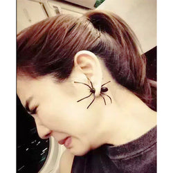 Creepy Black Spider Ear Stud Earrings - Win N Win